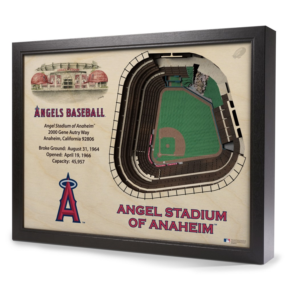 MLB Los Angeles Angels 25 Layer Stadiumviews 3D Wall Art
