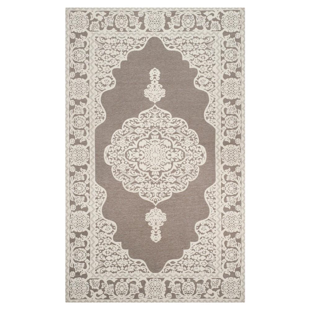 Light Gray/Ivory Abstract Woven Area Rug - (5'X8') - Safavieh
