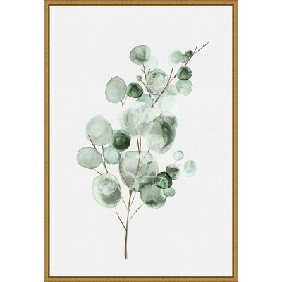 "16"" x 23"" Tender Sprout II by Eva Watts Framed Canvas Wall Art - Amanti Art"