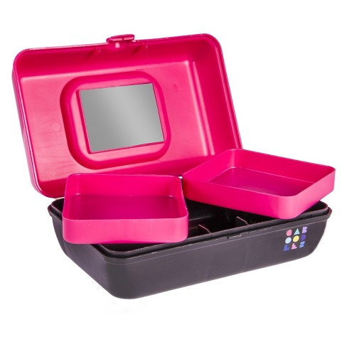 Caboodles Makeup Bags And Organizers Retro Pretty In Pee Hot Pink Black