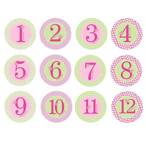 d6125e656 Pearhead Baby First Year Milestone Belly Stickers - Pink' : Target