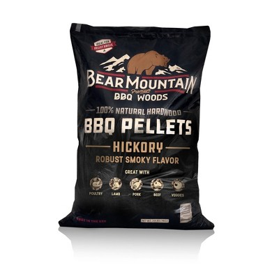 Bear Mountain BBQ FK14 Premium All-Natural Hardwood Hickory BBQ Smoker Pellets for Pellet Grills and Smokers, 20 lbs