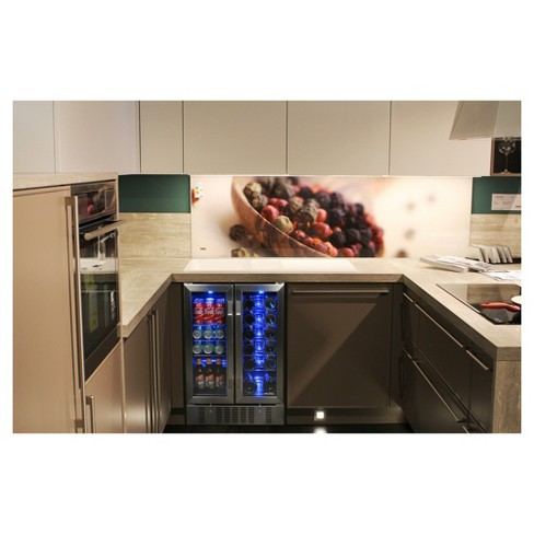 ffaeb1d6e3a NewAir 18 Bottle And 58 Can Dual Zone Beverage And Wine Cooler - Stainless  Steel AWB-360DB   Target