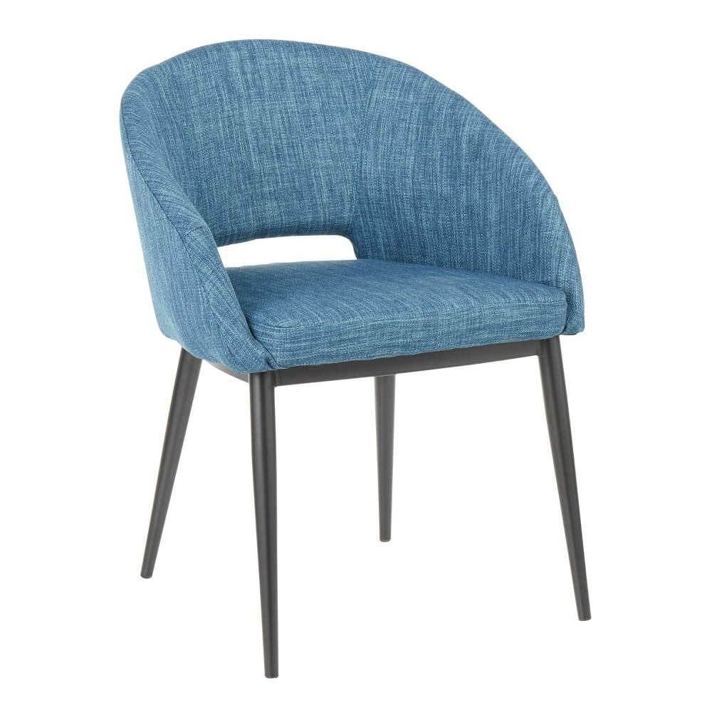 Renee Contemporary Chair Black/Blue - Lumisource