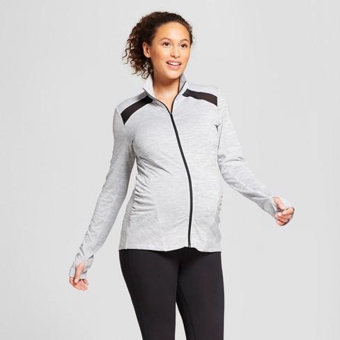 47307e5fda02 Maternity Pinstripe Track Jacket - C9 Champion® Black White XS   Target