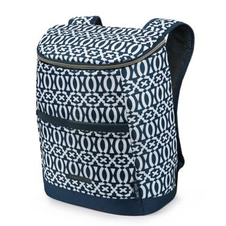 Dabney Lee 18c Geo Print Backpack Cooler - Navy/White