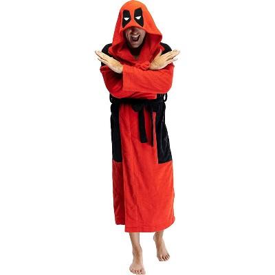 Marvel Deadpool Adult Men's Costume Fleece Robe Bathrobe