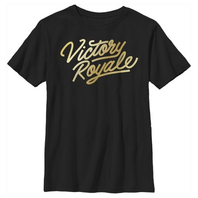 Boy's Fortnite Victory Royale Gold Script T-Shirt