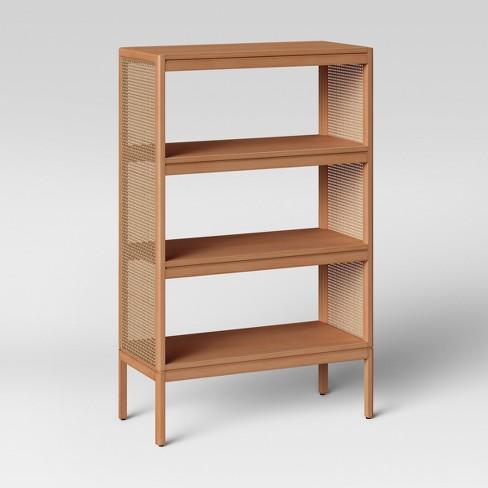 48 Minsmere Caned Bookshelf Natural Brown Opalhouse