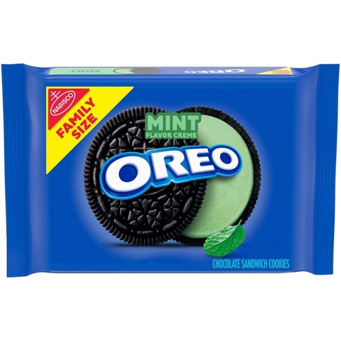 Oreo Mint Creme Chocolate Sandwich Cookies Family Size - 20oz - image 1 of 4
