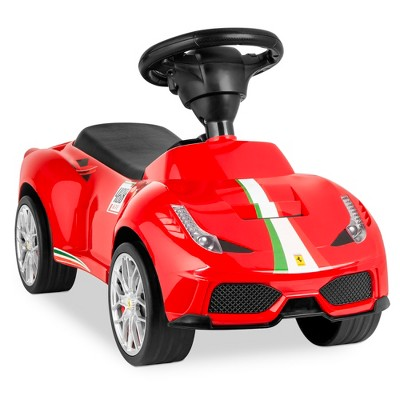 Best Choice Products Kids Licensed Ferrari 458 Sports Car Ride On Push Pedal Vehicle w/ Steering Wheel	Horn