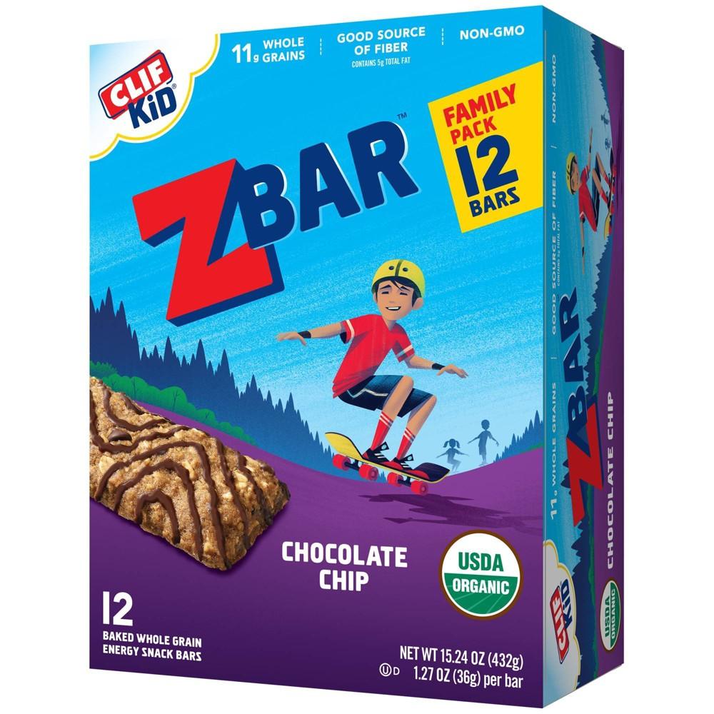 Clif Kid Zbar Organic Chocolate Chip Energy Bars 12ct