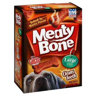Meaty Bone Beef Biscuits Large Dog Treats - 64oz