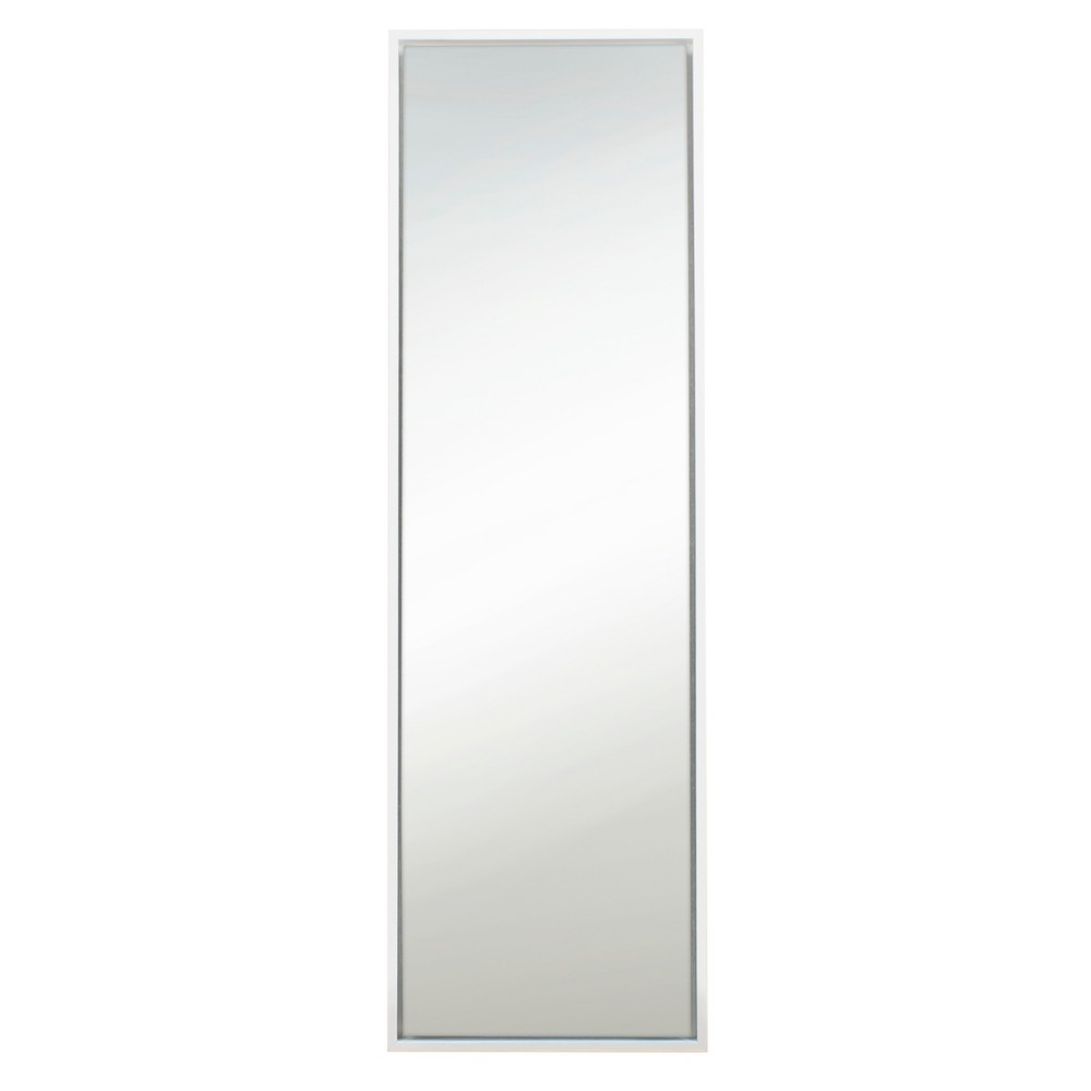Image of Evans Leaner Decorative Wall Mirror 18x58 - Kate & Laurel, White