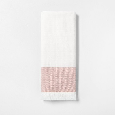Engineered Border Hand Towel Copper - Hearth & Hand™ with Magnolia