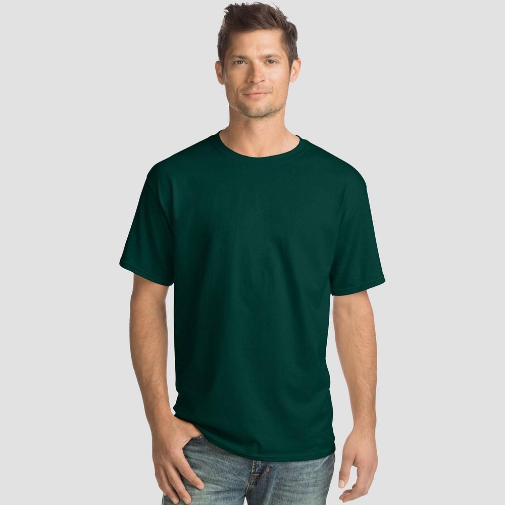 Hanes Men 39 S Comfort Wash Short Sleeve T Shirt 4pk Forest 2xl