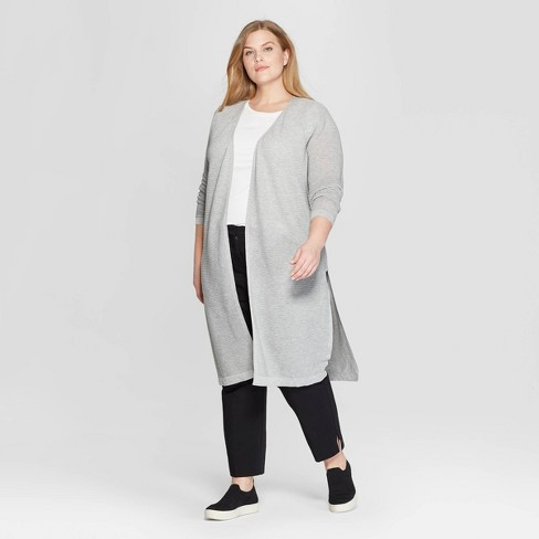 Women's Plus Size Long Sleeve Open Layered Cardigan - Prologue™ - image 1 of 3
