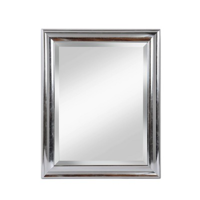 """28"""" x 34"""" Concert Beveled Glass Bathroom Wall Mirror with Silver Frame - Alpine Art and Mirror"""