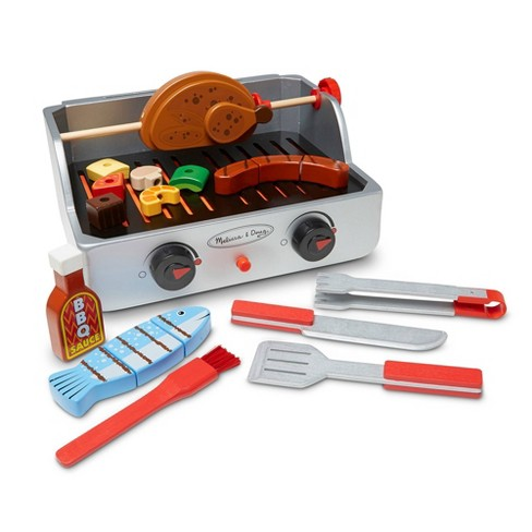 Melissa & Doug Rotisserie and Grill Wooden Barbecue Play Food Set (24pc) - image 1 of 4
