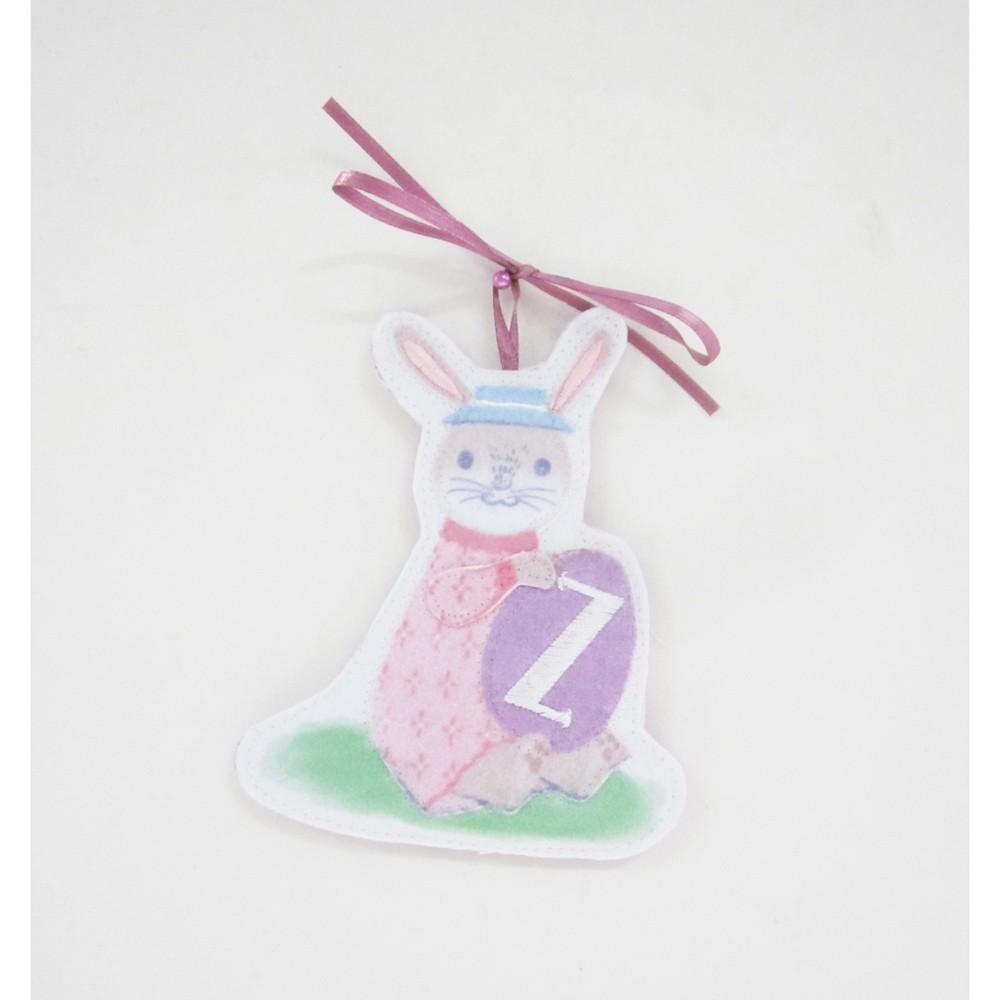 Pink Bunny Easter Basket Charm Z - Spritz