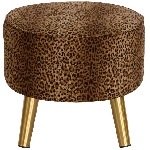 Fine Kelly Ottoman Leopard Spot Earth Cloth Co Ncnpc Chair Design For Home Ncnpcorg