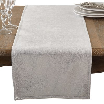 Light Silver Solid Table Runner - Saro Lifestyle