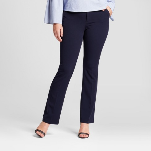 Women's Bootcut Curvy Bi-Stretch Twill Pants - A New Day™ Federal Blue 18L - image 1 of 3