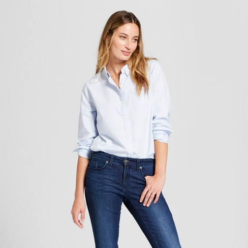 Women's Long Sleeve Camden Button-Down Shirt - Universal Thread™ - image 1 of 3