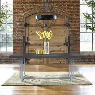 Armen Living Opal Contemporary Dining Table Gray