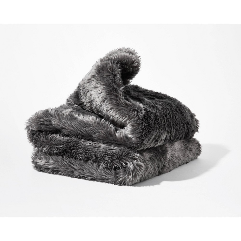Faux Fur Duvet Cover For Weighted Blanket Gray Gravity