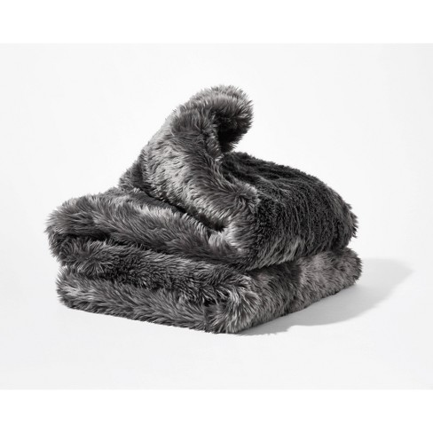 Faux Fur Duvet Cover for Weighted Blanket - Gravity - image 1 of 4