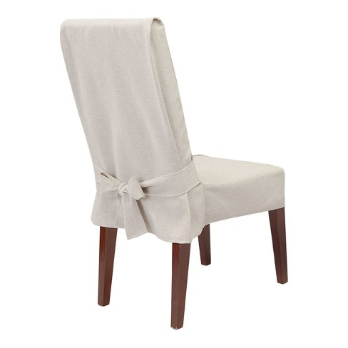 Farmhouse Basketweave Dining Room Chair Slipcover Oatmeal Sure Fit