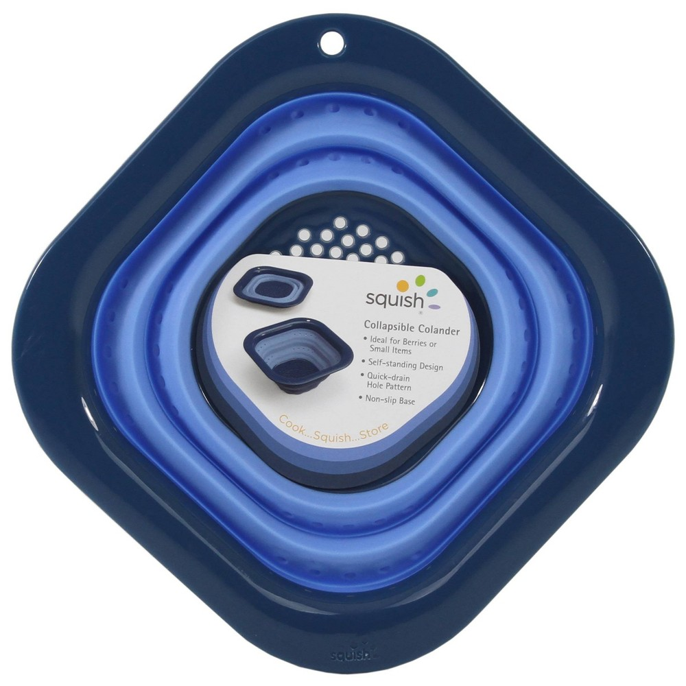 Image of Squish 3cup Square Berry Colander Blue