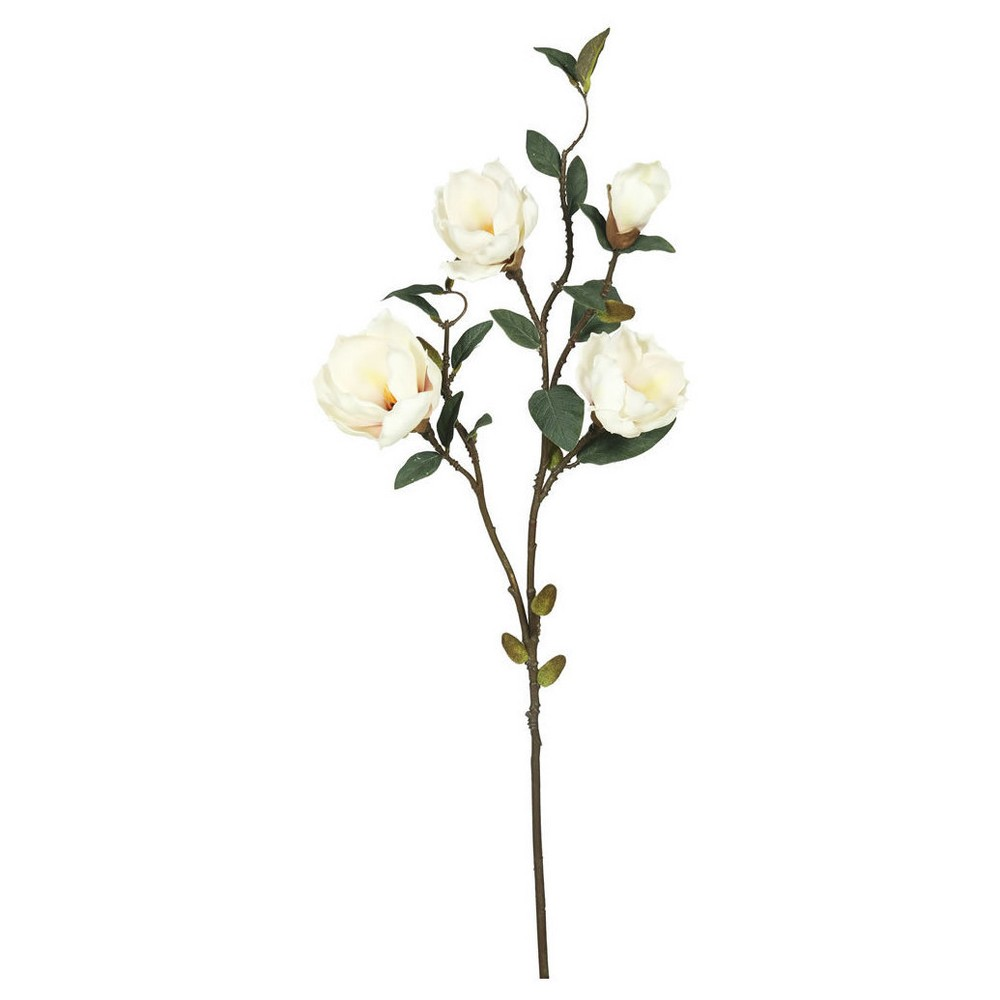 Artificial Magnolia x 4 (Pk/3) Cream (Ivory) - Vickerman