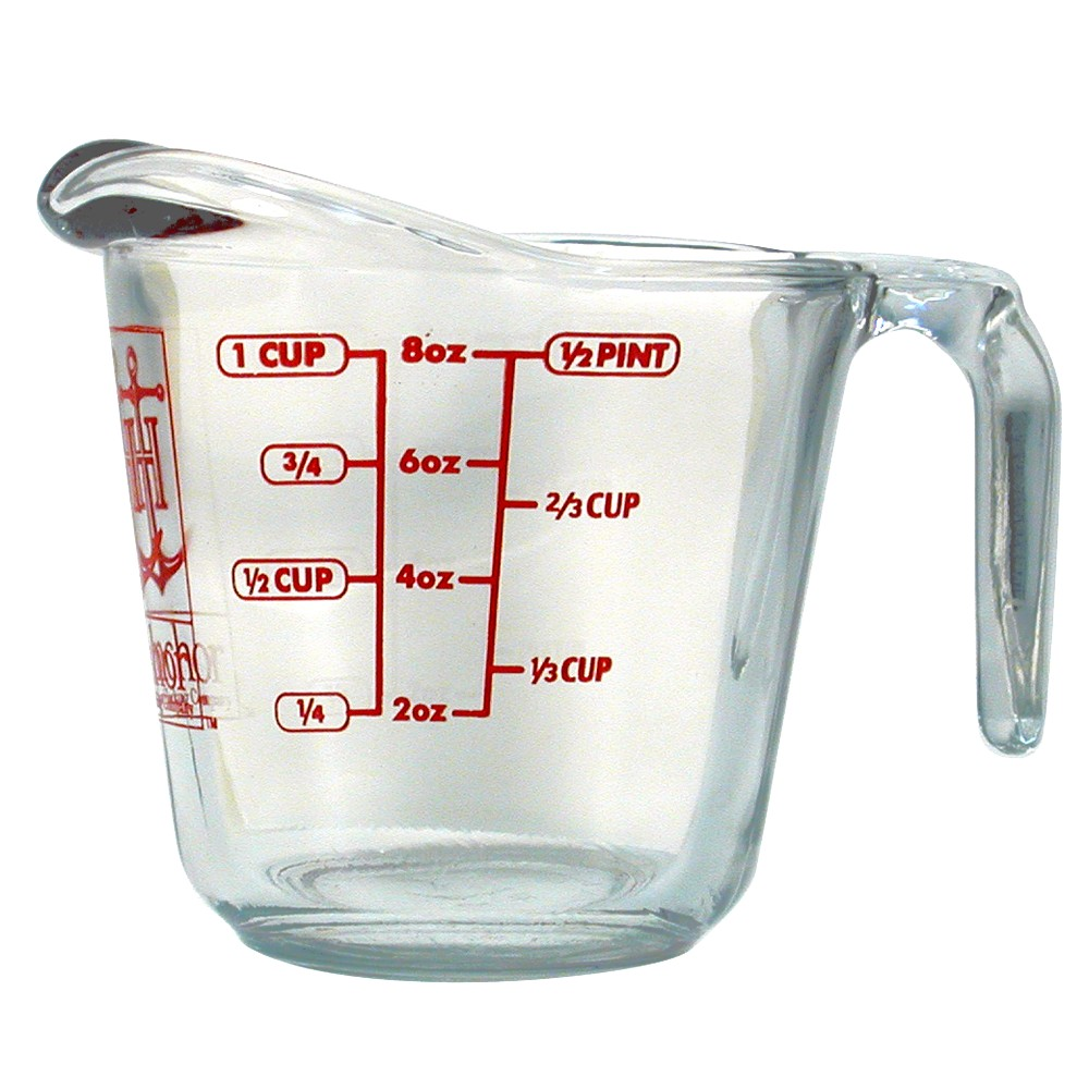 Image of Anchor 8oz Measuring Cup, Medium Clear