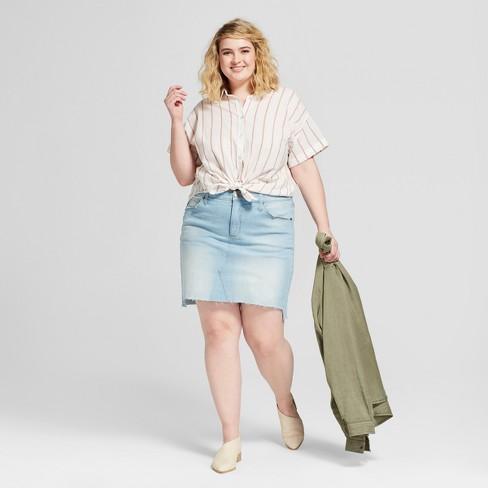 3335a9e3be Women s Plus Size Denim Mini Skirt - Universal Thread™ Light Wash. Shop all Universal  Thread