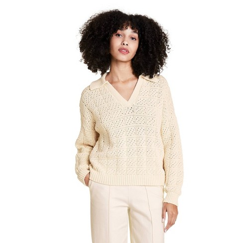 Women's V-Neck Pullover Sweater - Rachel Comey x Target Ivory  - image 1 of 4