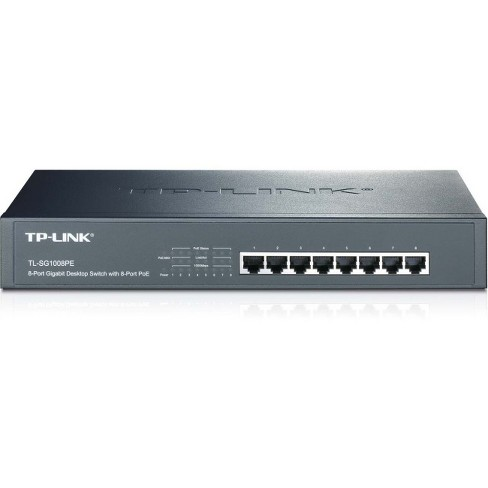 TP LINK TL SG1008PE 8 Port Giagbit PoE Switch 8 POE Ports IEEE