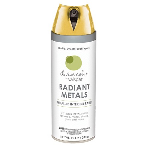 Devine Color Spray Paint by Valspar - Metallic Gold Metallic Finish - 12 oz Aerosol - image 1 of 1
