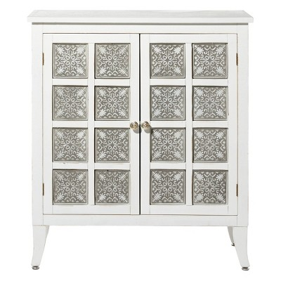 Modern 2 Door Wooden Cabinet White - Olivia & May