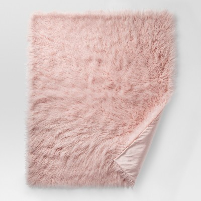 Pink Mongolian Faux Fur Throw Blankets (50 x60 )- Project 62™
