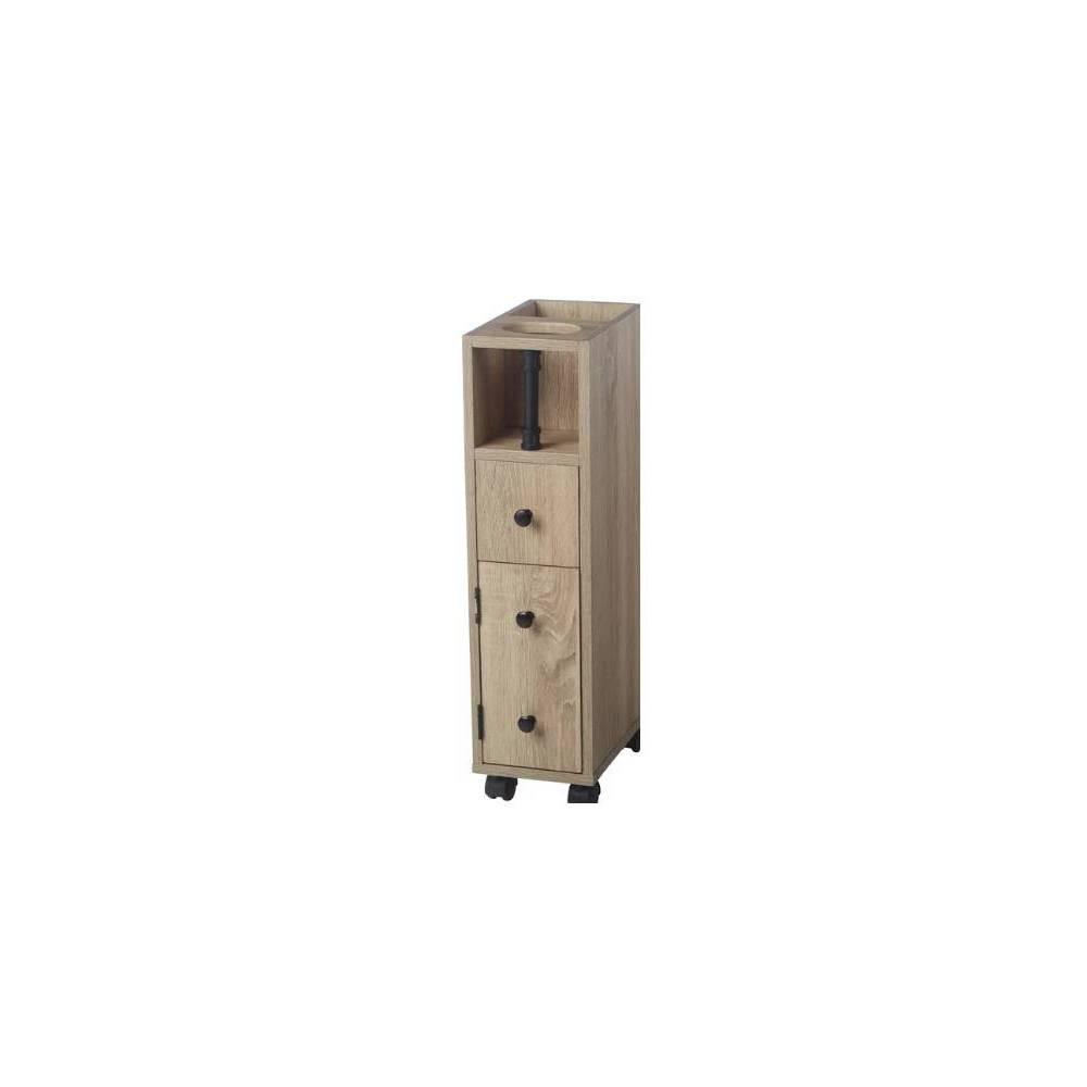 Industrial Pipe Mobile Storage Organizer Antique Wood - Neu Home