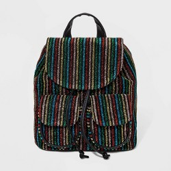Striped Drawstring Tab Closure Backpack - Wild Fable™