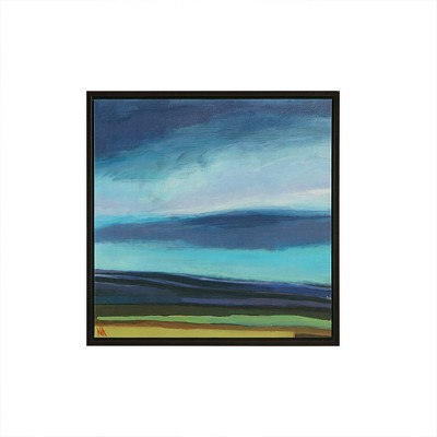Evening Sky Gel Coat Framed Wall Canvas Blue