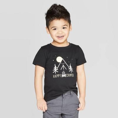 Toddler Boys' Jersey Happy Camper T-Shirt - Cat & Jack™ Black 3T