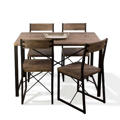 Urban Blend Dining Set Brown Black