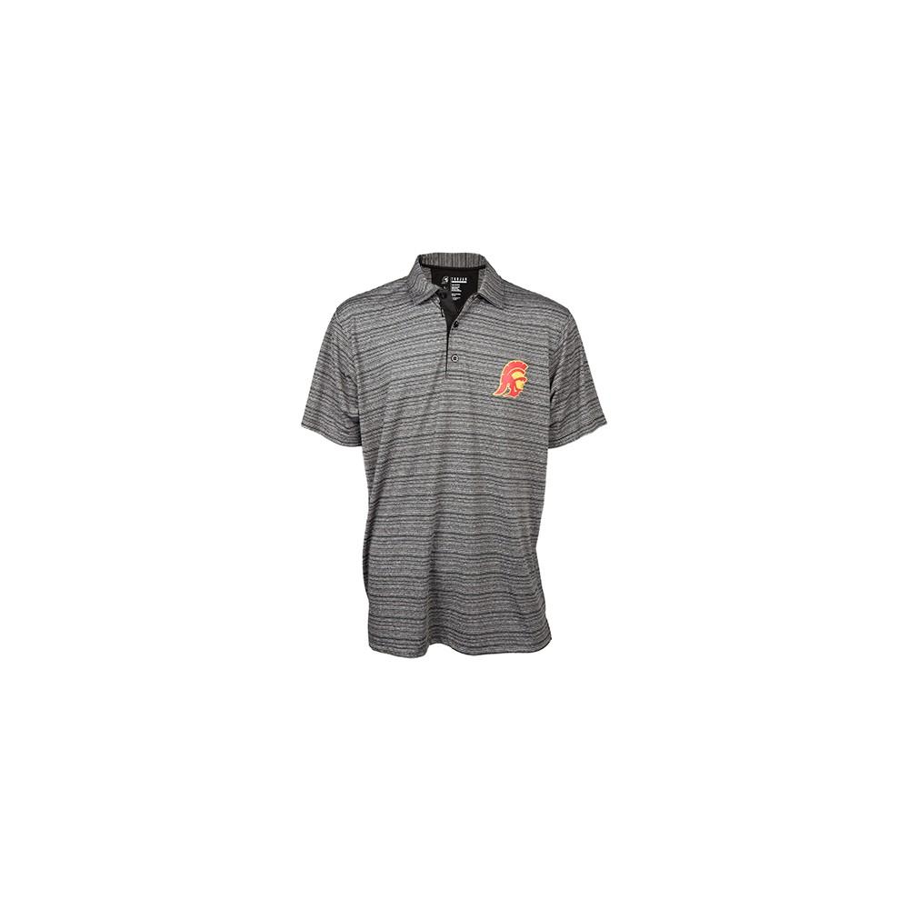 NCAA Usc Trojans Men's Silas Stripe Polo Shirt - M, Multicolored