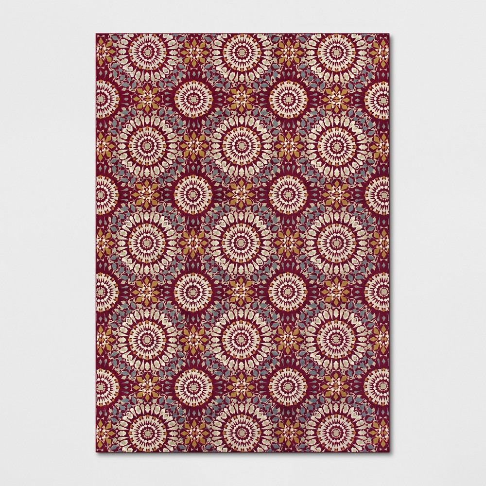 7'X10' Medallion Tufted Area Rugs Red - Threshold