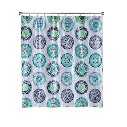 Filigree Medallion Shower Curtain Purple