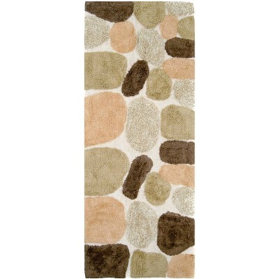 "24""X60"" Pebbles Bath Runner Tan/Brown - Chesapeake Merch Inc."